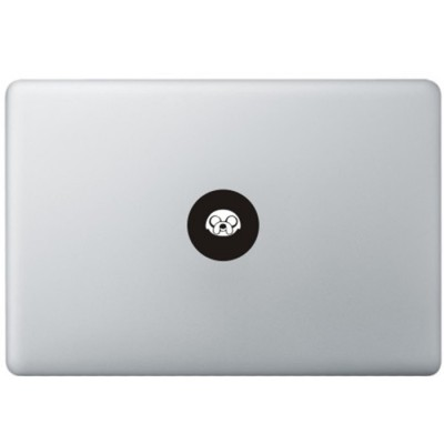 Adventure Time Logo MacBook Sticker Zwarte Stickers