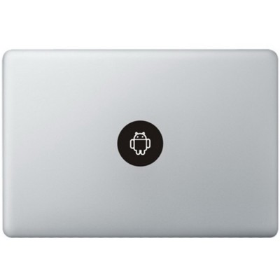 Android Logo MacBook Sticker Zwarte Stickers