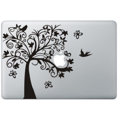 Fancy Boom MacBook Sticker Zwarte Stickers