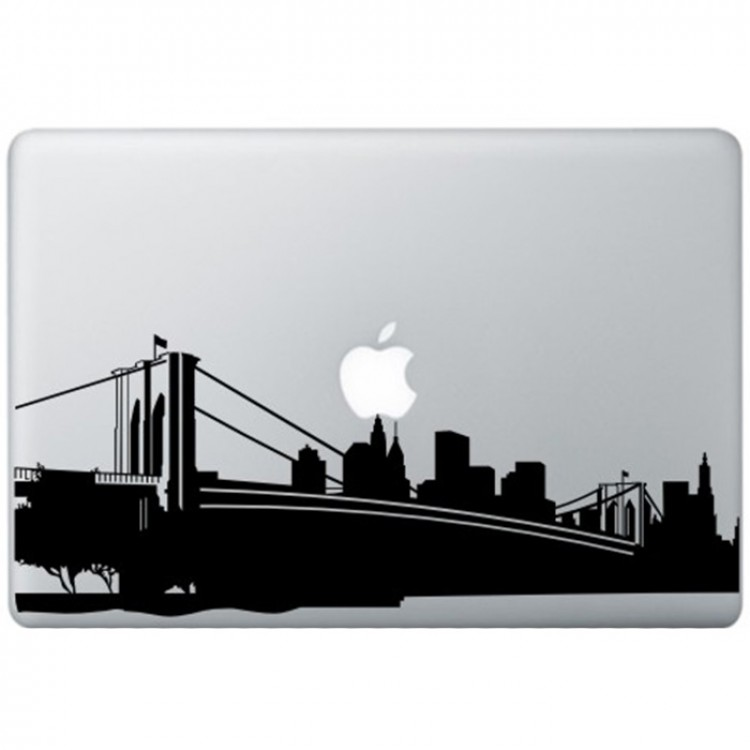 New York MacBook Sticker Zwarte Stickers