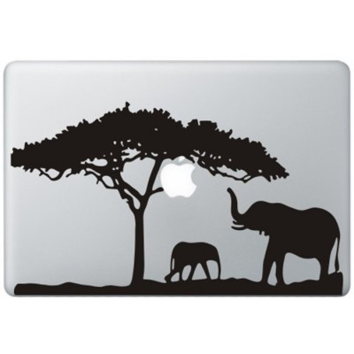 Afrika MacBook Sticker Zwarte Stickers