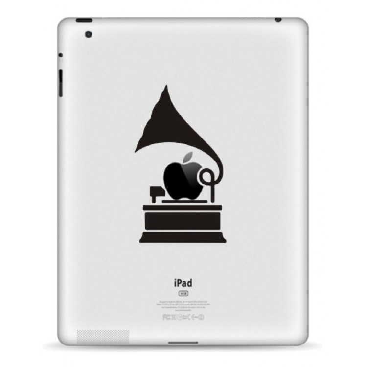Grammofoon iPad Sticker iPad Stickers