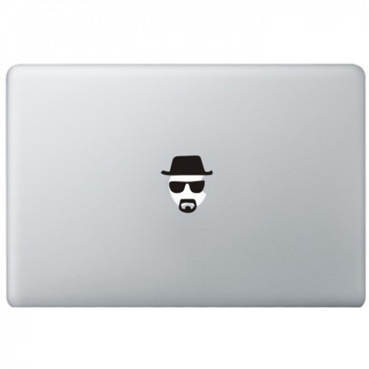 Breaking Bad Heisenberg MacBook Sticker Zwarte Stickers