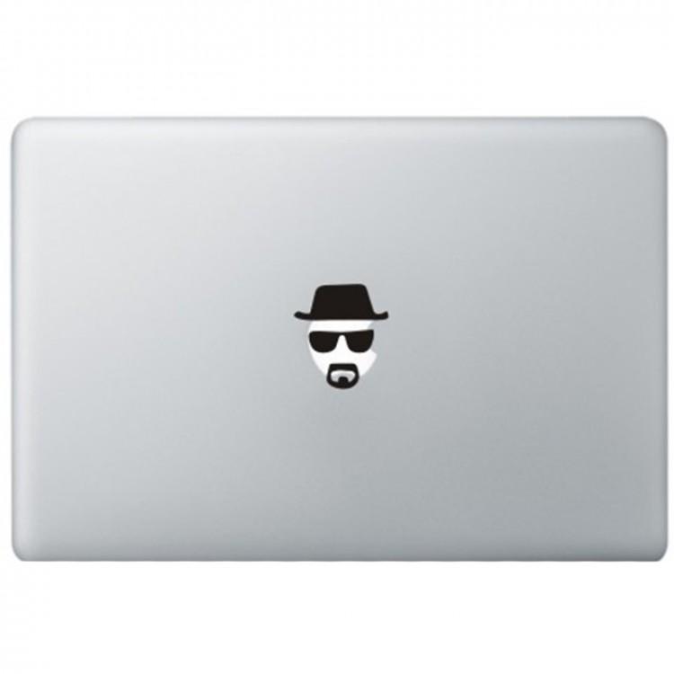 Breaking Bad Heisenberg MacBook Sticker Zwarte Stickers