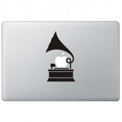 Grammofoon MacBook Decal