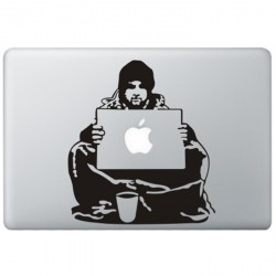 Banksy Bum MacBook Sticker