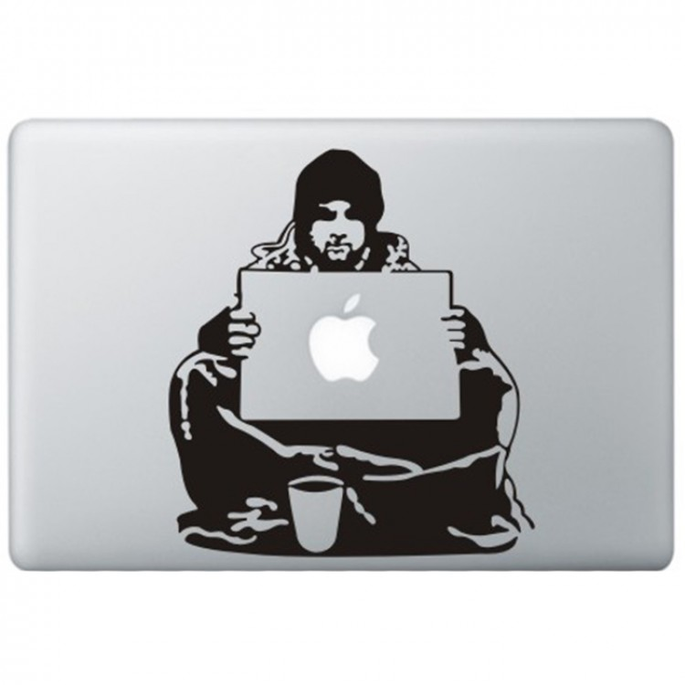 Banksy Bum MacBook Sticker Zwarte Stickers
