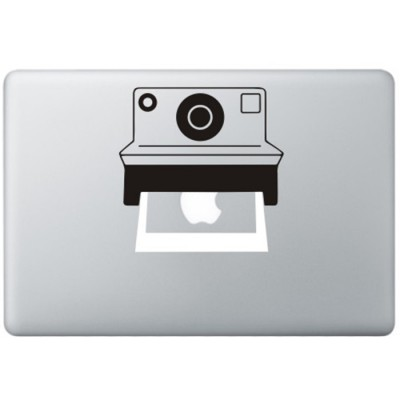 Polaroid Camera MacBook Sticker Zwarte Stickers