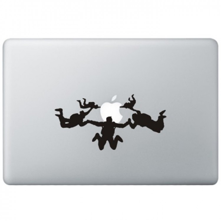 Skydiving MacBook Sticker Zwarte Stickers