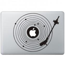 Platenspeler MacBook Sticker