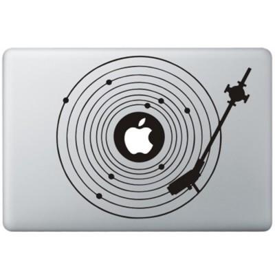 Platenspeler MacBook Sticker Zwarte Stickers