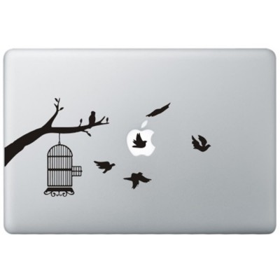 Vogels MacBook Sticker Zwarte Stickers