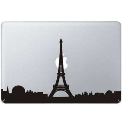 Parijs Eifel Toren MacBook Sticker Zwarte Stickers