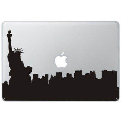 New York Statue of Liberty MacBook Sticker Zwarte Stickers
