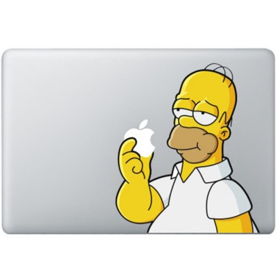 Homer Simpsons MacBook Sticker