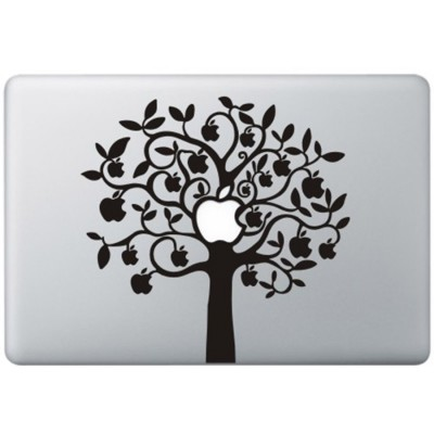 Apple Boom (2) MacBook Sticker Zwarte Stickers