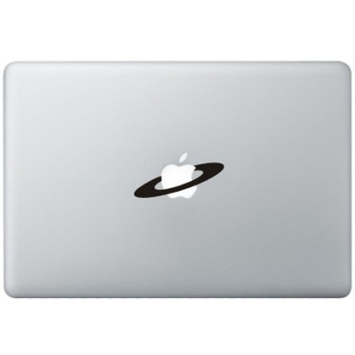 Apple Space MacBook Sticker Zwarte Stickers