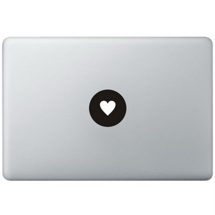 Love Logo MacBook Sticker Zwarte Stickers