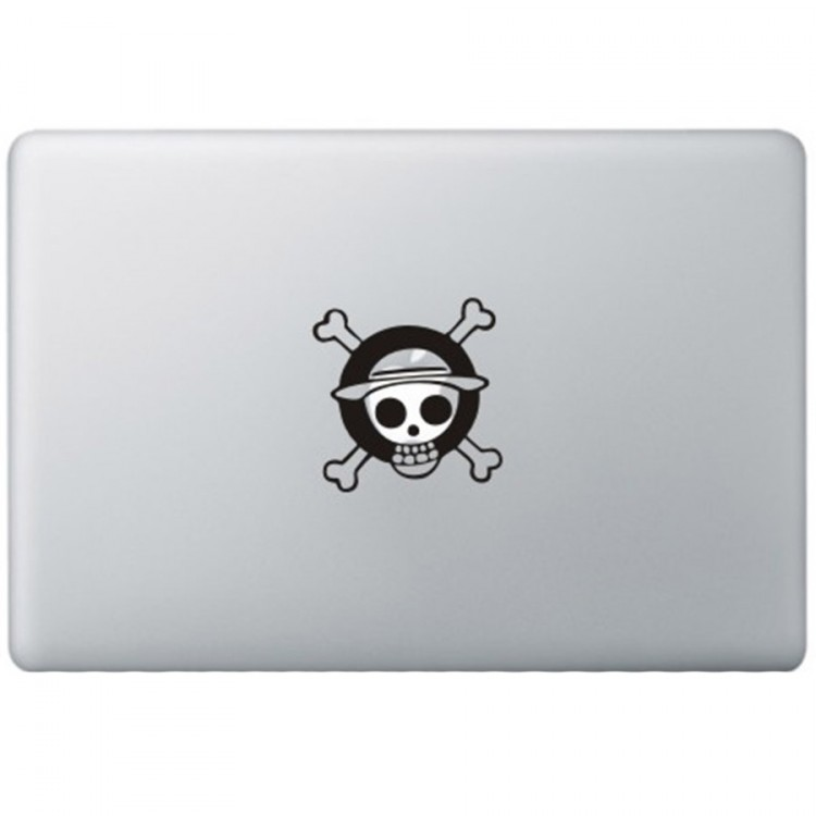 One Piece Monkey Logo MacBook Sticker Zwarte Stickers