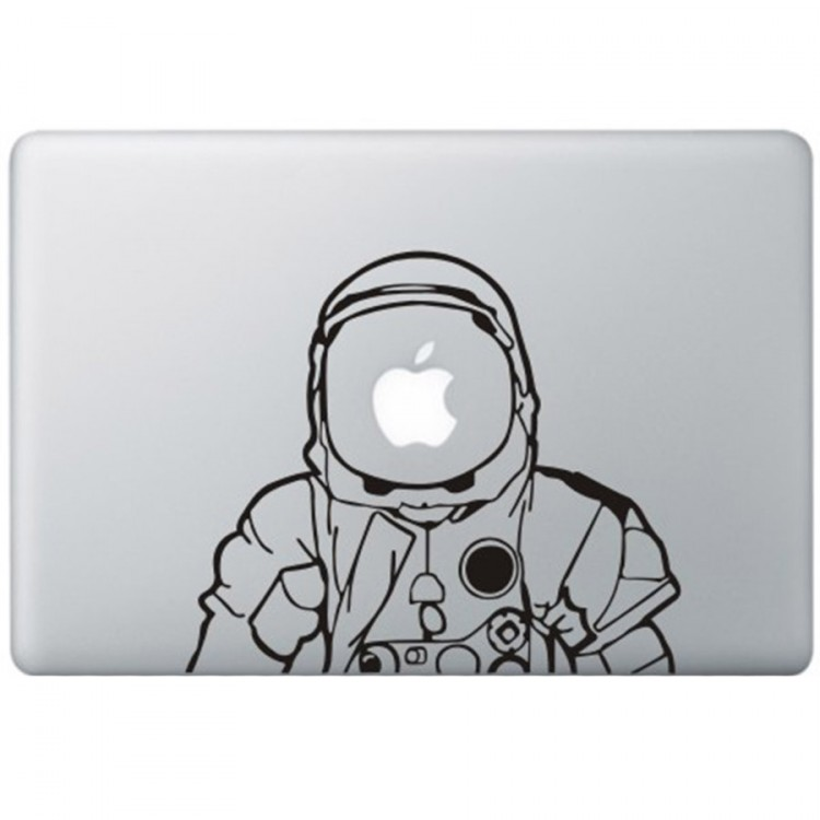 Astronaut MacBook Sticker Zwarte Stickers