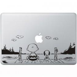 Snoopy en Charlie Brown MacBook Sticker