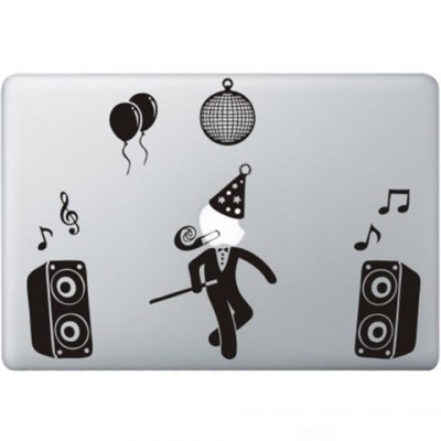 Party Guy Macbook Sticker Zwarte Stickers