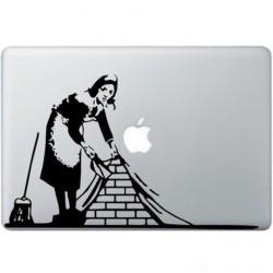 Banksy Maid In London Macbook Decal
