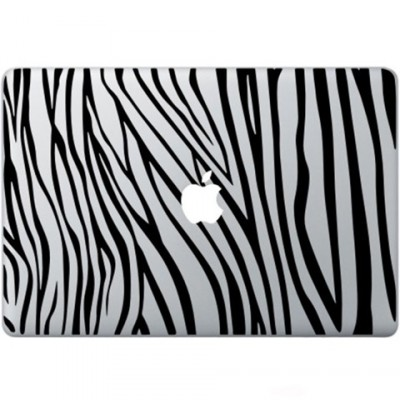 Zebra Print Macbook Sticker Zwarte Stickers