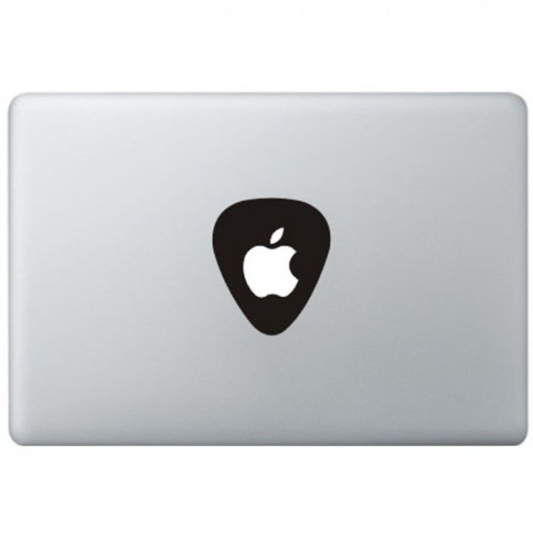 Plectrum Logo Macbook Sticker Zwarte Stickers
