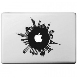 Around The World Macbook Sticker