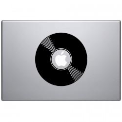 Vinyl Plaat Macbook Sticker