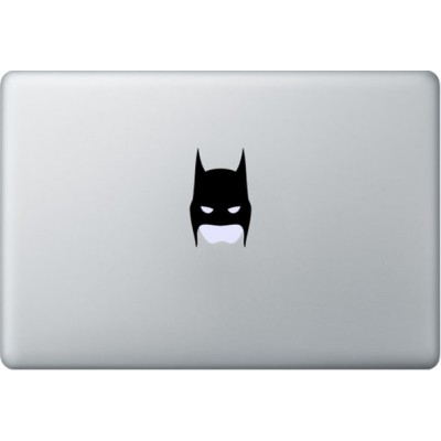 Batman Mask MacBook Sticker Zwarte Stickers