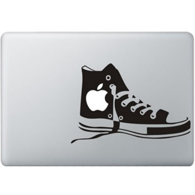 Converse Schoenen MacBook Sticker Zwarte Stickers